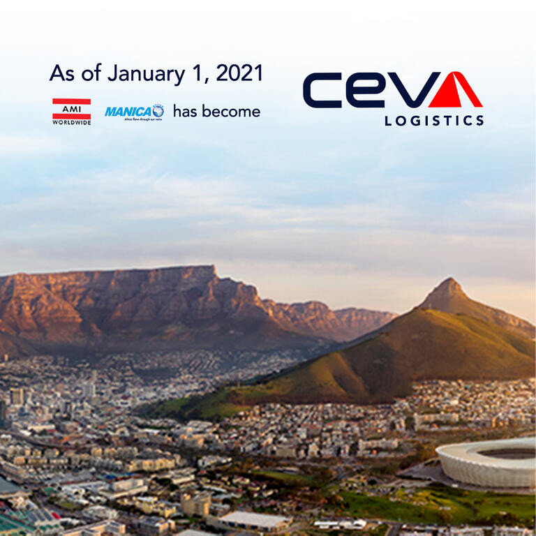 As of January 2021, AMI and Manica has become CEVA Logistics